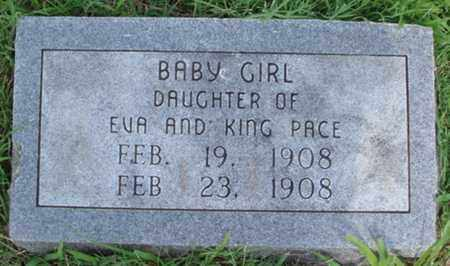 PACE, INFANT DAUGHTER - Benton County, Arkansas | INFANT DAUGHTER PACE - Arkansas Gravestone Photos