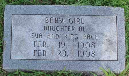 PACE, INFANT DAUGHTER - Benton County, Arkansas   INFANT DAUGHTER PACE - Arkansas Gravestone Photos