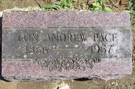 PACE, LON ANDREW - Benton County, Arkansas | LON ANDREW PACE - Arkansas Gravestone Photos