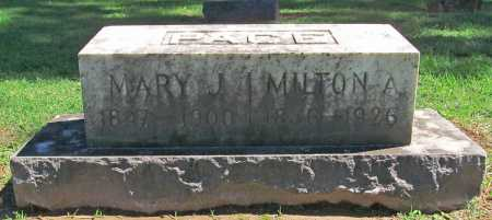 PACE, MARY J - Benton County, Arkansas | MARY J PACE - Arkansas Gravestone Photos
