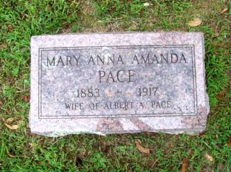 PACE, MARY ANNA AMANDA - Benton County, Arkansas | MARY ANNA AMANDA PACE - Arkansas Gravestone Photos
