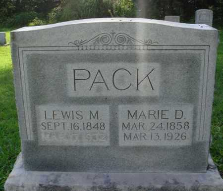 PACK, MARIE D. - Benton County, Arkansas | MARIE D. PACK - Arkansas Gravestone Photos