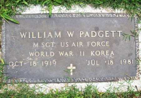 PADGETT (VETERAN 2 WARS), WILLIAM W. - Benton County, Arkansas | WILLIAM W. PADGETT (VETERAN 2 WARS) - Arkansas Gravestone Photos