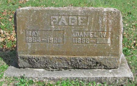 PAGE, DANIEL W - Benton County, Arkansas | DANIEL W PAGE - Arkansas Gravestone Photos