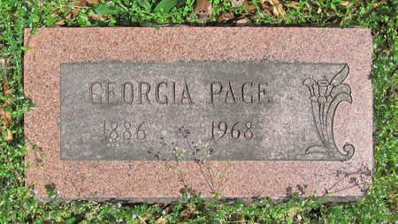 PAGE, GEORGIA - Benton County, Arkansas | GEORGIA PAGE - Arkansas Gravestone Photos