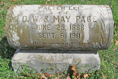 PAGE, WALTER LEE - Benton County, Arkansas | WALTER LEE PAGE - Arkansas Gravestone Photos