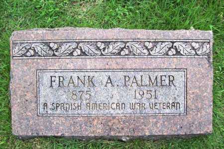 PALMER (VETERAN SAW), FRANK A. - Benton County, Arkansas   FRANK A. PALMER (VETERAN SAW) - Arkansas Gravestone Photos
