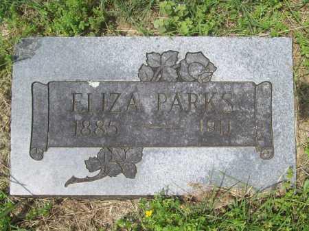 PRITCHARD PARKS, ELIZA - Benton County, Arkansas | ELIZA PRITCHARD PARKS - Arkansas Gravestone Photos