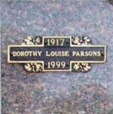 EVERSOLE PARSONS, DOROTHY LOUISE - Benton County, Arkansas | DOROTHY LOUISE EVERSOLE PARSONS - Arkansas Gravestone Photos