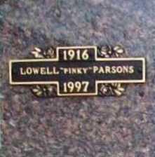 "PARSONS, LOWELL ""PINKY"" - Benton County, Arkansas | LOWELL ""PINKY"" PARSONS - Arkansas Gravestone Photos"