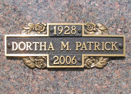 PATRICK, DORTHA M. - Benton County, Arkansas | DORTHA M. PATRICK - Arkansas Gravestone Photos