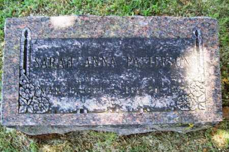 PATTERSON, SARAH ANNA - Benton County, Arkansas | SARAH ANNA PATTERSON - Arkansas Gravestone Photos