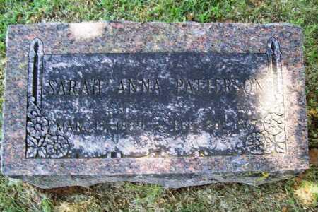 PATTERSON, SARAH ANNA - Benton County, Arkansas   SARAH ANNA PATTERSON - Arkansas Gravestone Photos