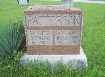 PATTERSON, SALLIE W. - Benton County, Arkansas | SALLIE W. PATTERSON - Arkansas Gravestone Photos