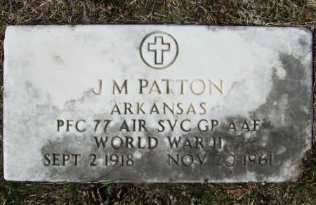 PATTON (VETERAN WWII), J M - Benton County, Arkansas | J M PATTON (VETERAN WWII) - Arkansas Gravestone Photos