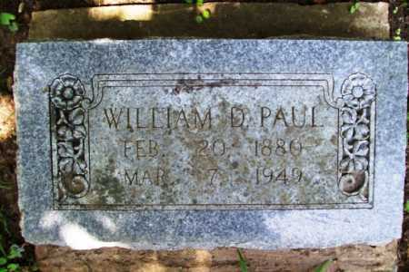 PAUL, WILLIAM D. - Benton County, Arkansas | WILLIAM D. PAUL - Arkansas Gravestone Photos