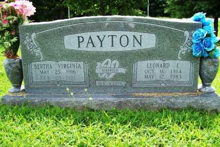 PAYTON, BERTHA VIRGINIA - Benton County, Arkansas | BERTHA VIRGINIA PAYTON - Arkansas Gravestone Photos