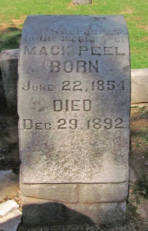 "PEEL, JAMES MCFERRIN ""MACK"" - Benton County, Arkansas 
