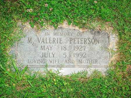 PETERSON, M. VALERIE - Benton County, Arkansas | M. VALERIE PETERSON - Arkansas Gravestone Photos