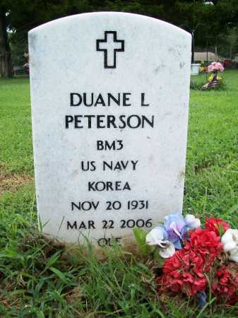 "PETERSON (VETERAN KOR), DUANE LEROY ""OLE"" - Benton County, Arkansas 