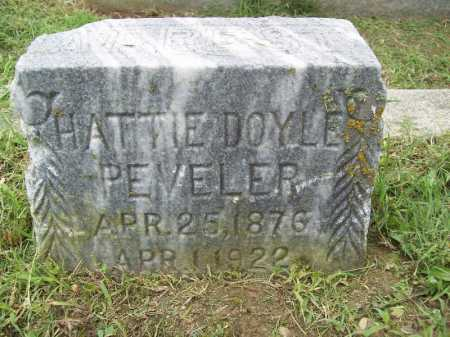 PEVELER, HATTIE - Benton County, Arkansas | HATTIE PEVELER - Arkansas Gravestone Photos