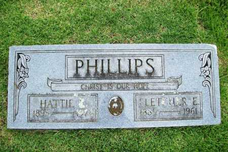 PHILLIPS, HATTIE E. - Benton County, Arkansas | HATTIE E. PHILLIPS - Arkansas Gravestone Photos