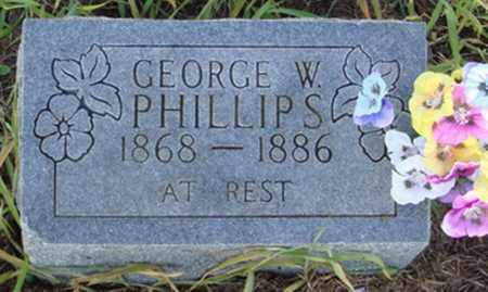 PHILLIPS, GEORGE W. - Benton County, Arkansas | GEORGE W. PHILLIPS - Arkansas Gravestone Photos