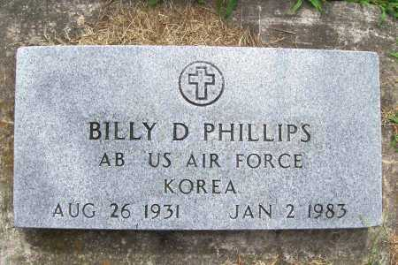 PHILLIPS (VETERAN KOR), BILLY D. - Benton County, Arkansas | BILLY D. PHILLIPS (VETERAN KOR) - Arkansas Gravestone Photos