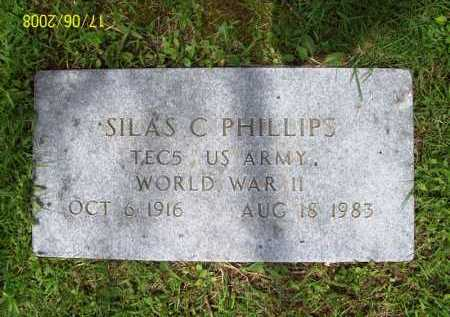 PHILLIPS (VETERAN WWII), SILAS C. - Benton County, Arkansas | SILAS C. PHILLIPS (VETERAN WWII) - Arkansas Gravestone Photos