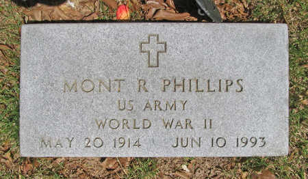 PHILLIPS (VETERAN WWII), MONT R - Benton County, Arkansas | MONT R PHILLIPS (VETERAN WWII) - Arkansas Gravestone Photos
