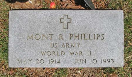 PHILLIPS (VETERAN WWII), MONT R - Benton County, Arkansas | MONT R PHILLIPS (VETERAN WWII) - Arkansas Gravestone Photos