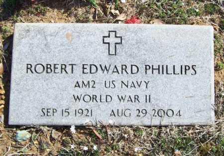PHILLIPS (VETERAN WWII), ROBERT EDWARD - Benton County, Arkansas | ROBERT EDWARD PHILLIPS (VETERAN WWII) - Arkansas Gravestone Photos