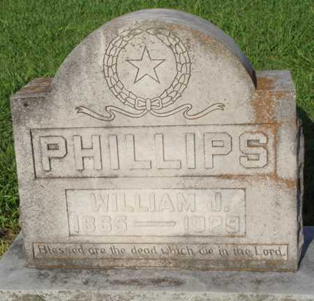PHILLIPS, WILLIAM J. - Benton County, Arkansas | WILLIAM J. PHILLIPS - Arkansas Gravestone Photos