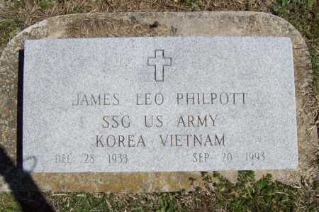 PHILPOTT (VETERAN 2 WARS), JAMES LEO - Benton County, Arkansas | JAMES LEO PHILPOTT (VETERAN 2 WARS) - Arkansas Gravestone Photos