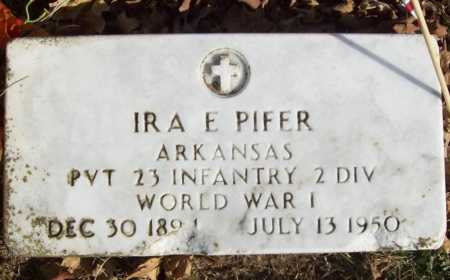 PIFER (VETERAN WWI), IRA E - Benton County, Arkansas | IRA E PIFER (VETERAN WWI) - Arkansas Gravestone Photos