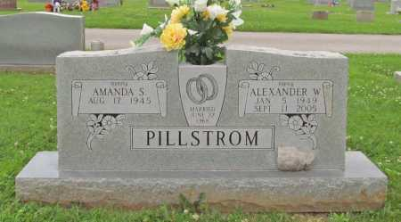 PILLSTROM, ALEXANDER W. - Benton County, Arkansas | ALEXANDER W. PILLSTROM - Arkansas Gravestone Photos