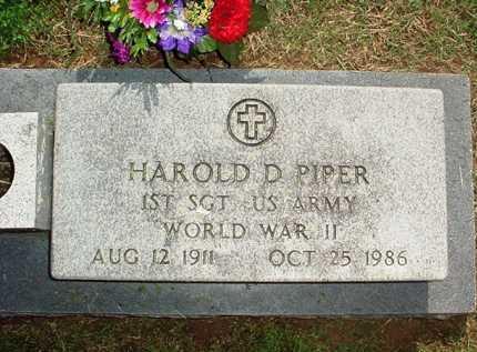 PIPER (VETERAN WWII), HAROLD D. - Benton County, Arkansas | HAROLD D. PIPER (VETERAN WWII) - Arkansas Gravestone Photos