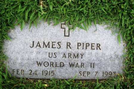 PIPER (VETERAN WWII), JAMES R. - Benton County, Arkansas | JAMES R. PIPER (VETERAN WWII) - Arkansas Gravestone Photos