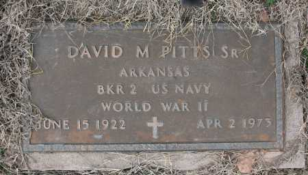 PITTS (VETERAN WWII), DAVID MICHAEL SR - Benton County, Arkansas | DAVID MICHAEL SR PITTS (VETERAN WWII) - Arkansas Gravestone Photos