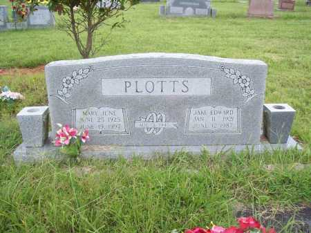 PLOTTS, MARY JUNE - Benton County, Arkansas | MARY JUNE PLOTTS - Arkansas Gravestone Photos