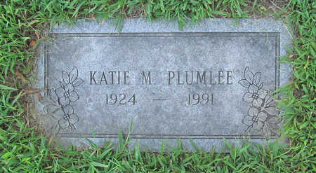 PLUMLEE, KATIE M - Benton County, Arkansas | KATIE M PLUMLEE - Arkansas Gravestone Photos