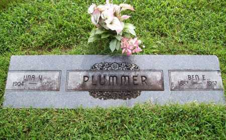 PLUMMER, UNA V. - Benton County, Arkansas | UNA V. PLUMMER - Arkansas Gravestone Photos