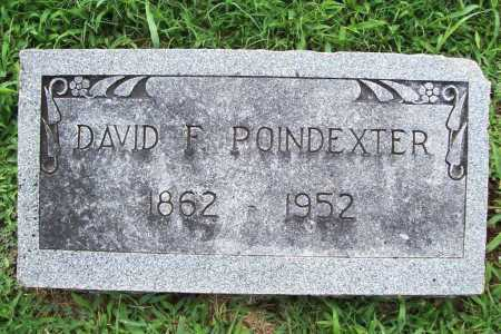 POINDEXTER, DAVID F. - Benton County, Arkansas | DAVID F. POINDEXTER - Arkansas Gravestone Photos