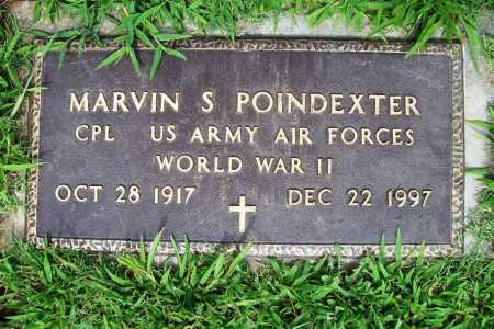 POINDEXTER (VETERAN WWII), MARVIN S. - Benton County, Arkansas | MARVIN S. POINDEXTER (VETERAN WWII) - Arkansas Gravestone Photos
