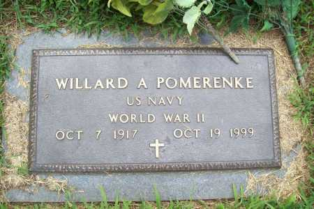 POMERENKE (VETERAN WWII), WILLARD A. - Benton County, Arkansas | WILLARD A. POMERENKE (VETERAN WWII) - Arkansas Gravestone Photos