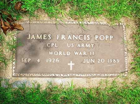 POPP (VETERAN WWII), JAMES FRANCIS - Benton County, Arkansas | JAMES FRANCIS POPP (VETERAN WWII) - Arkansas Gravestone Photos