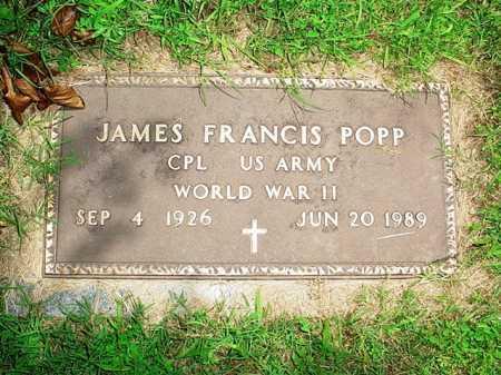 POPP (VETERAN WWII), JAMES FRANCIS - Benton County, Arkansas | JAMES FRANCIS POPP (VETERAN WWII) - Arkansas Gravestone Photos