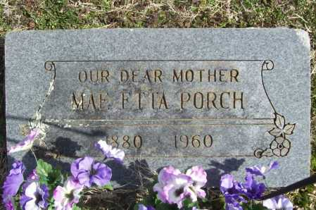 PORCH, MAE ETTA - Benton County, Arkansas | MAE ETTA PORCH - Arkansas Gravestone Photos