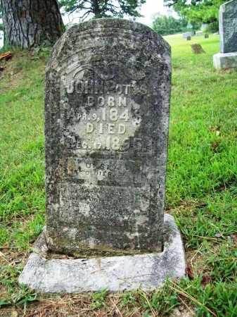 POTTS (VETERAN), JOHN - Benton County, Arkansas | JOHN POTTS (VETERAN) - Arkansas Gravestone Photos