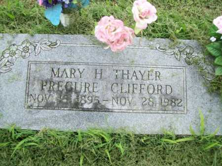 PRECURE- CLIFFORD, MARY H. - Benton County, Arkansas | MARY H. PRECURE- CLIFFORD - Arkansas Gravestone Photos